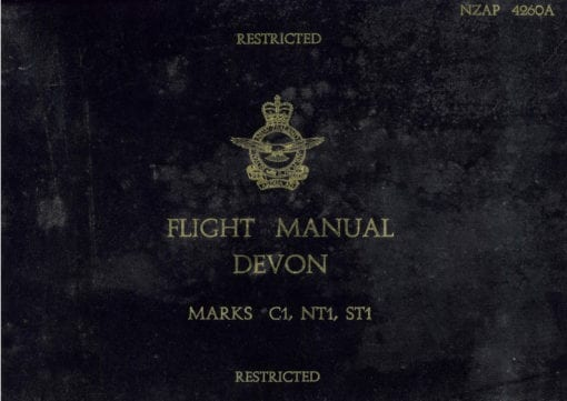 Flight Manual for the De Havilland DH104 Dove and Devon