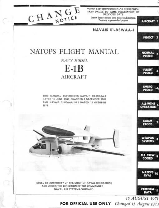 Flight Manual for the Grumman C-1A (TF-1) Trader