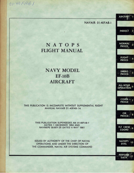 Flight Manual for the Douglas F3D Skyknight