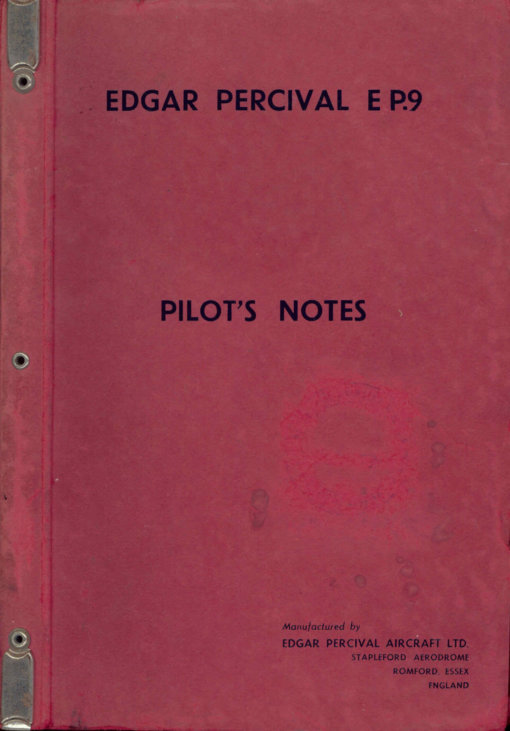 Flight Manual for the EP.9