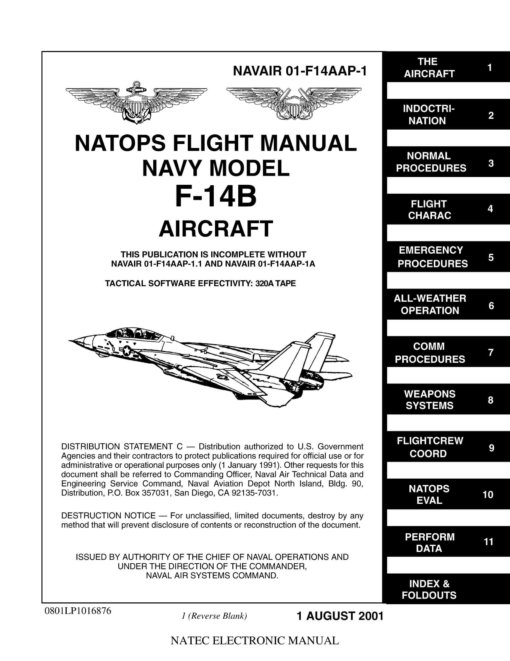 Flight Manual for the Grumman F-14 Tomcat