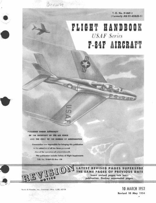 Flight Manual for the Republic F-84F Thunderflash