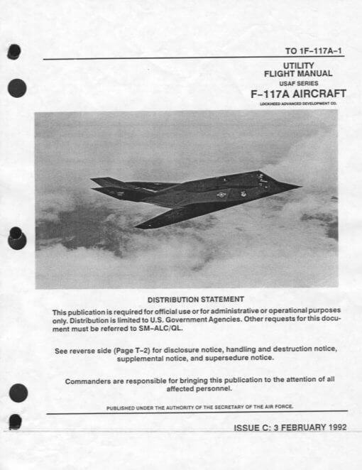Flight Manual for the Lockheed F-117 Nighthawk