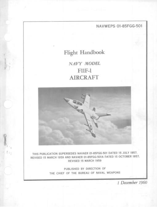 Flight Manual for the Grumman F11F Tiger