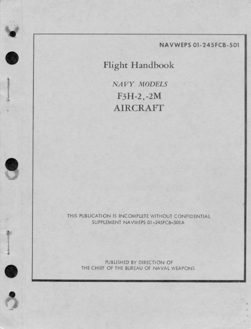 Flight Manual for the McDonnell F3H Demon