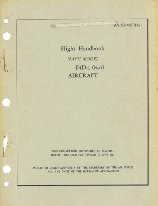 Flight Manual for the Douglas F4D Skyray