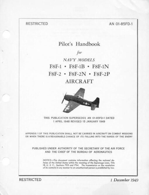 Flight Manual for the Grumman F7F Tigercat