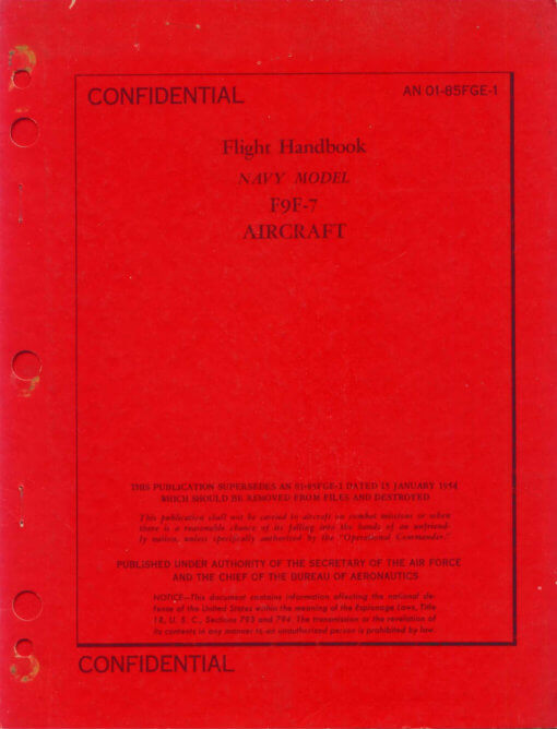Flight Manual for the Grumman F9F Panther and Cougar