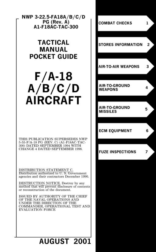 Flight Manual for the McDonnell-Douglas F-18A