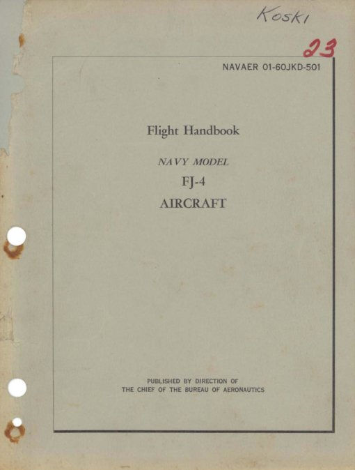 Flight Manual for the North American FJ Fury
