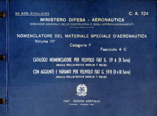 Flight Manual for the Fiat G59