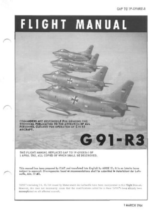 Flight Manual for the Fiat G91