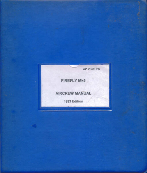 Flight Manual for the Fairey Firefly