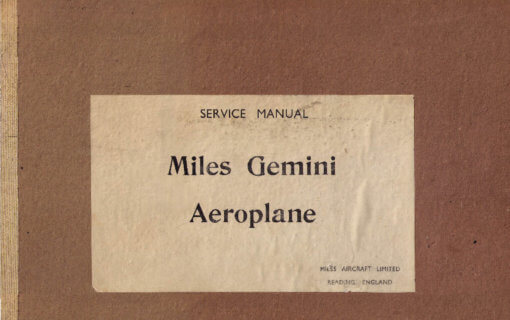 Flight Manual Pilots Notes for the Miles M.65 Gemini
