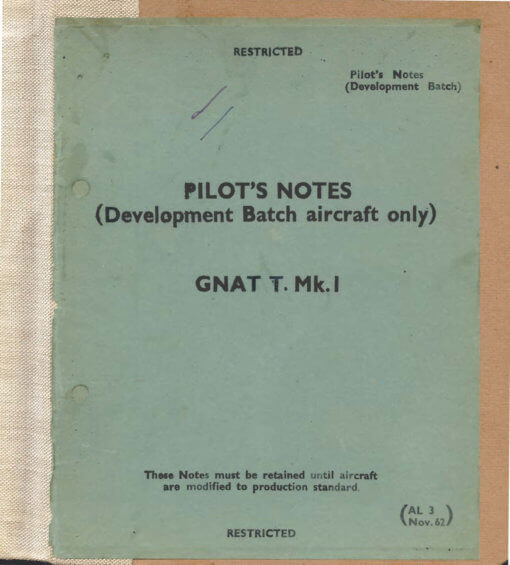 Flight Manual for the Folland Gnat