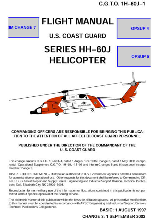 Flight Manual for the Sikorsky H-60 Blawkhawk