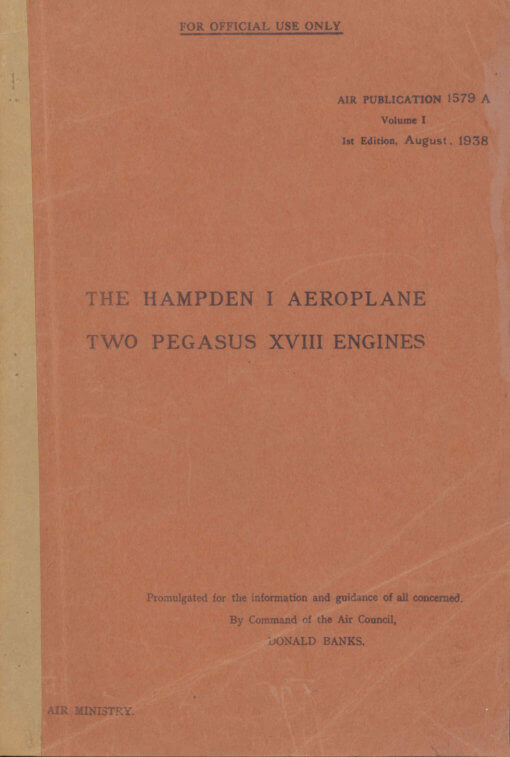 Flight Manual for the Handley Page Hampden