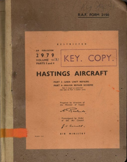 Flight Manual for the Handley Page Hastings