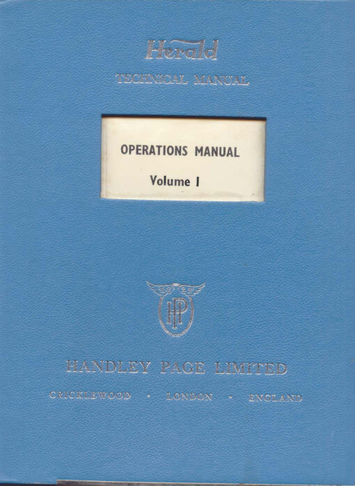Flight Manual for the Handley Page Herald