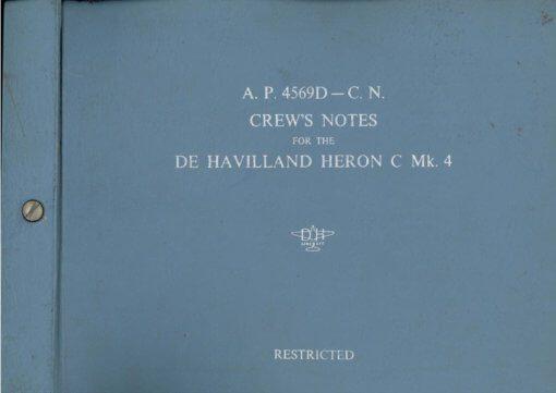 Flight Manual Pilots notes for the De Havilland DH114 Heron