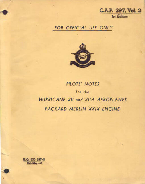 Flight Manual for the Hawker Hurricane