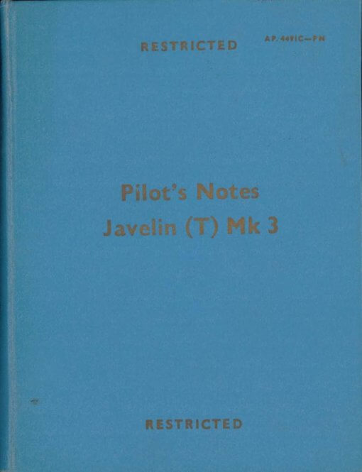 Flight Manual for the Gloster Javelin