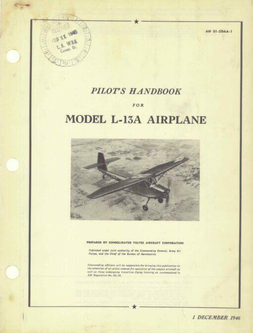 Flight Manual for the Convair L-13