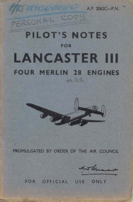 Flight Manual for the Avro Lancaster