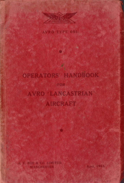 Flight Manual for the Avro 691 Lancastrian