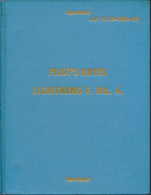 Flight Manual for the English Electric Lightning