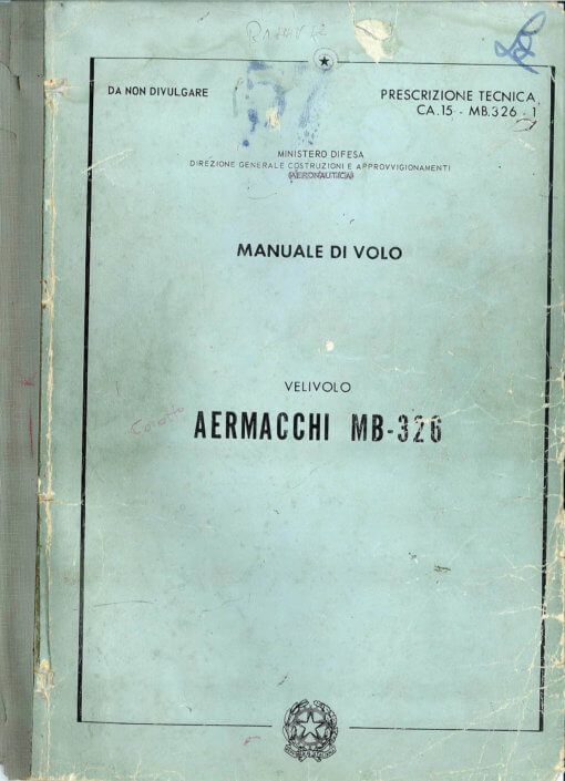 Flight Manual for the Aermacchi Macchi MB-326