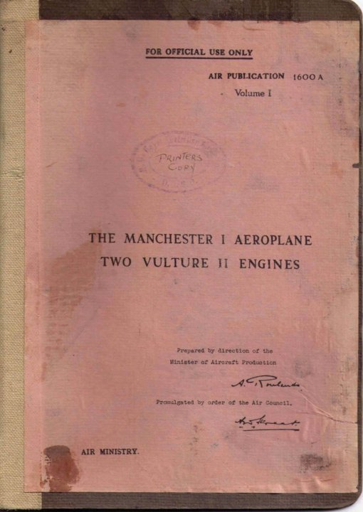 Flight Manual for the Avro Manchester