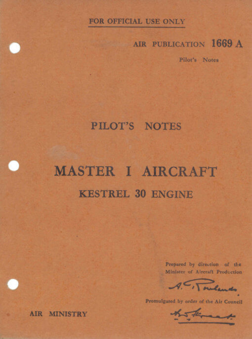 Flight Manual for the Miles Master