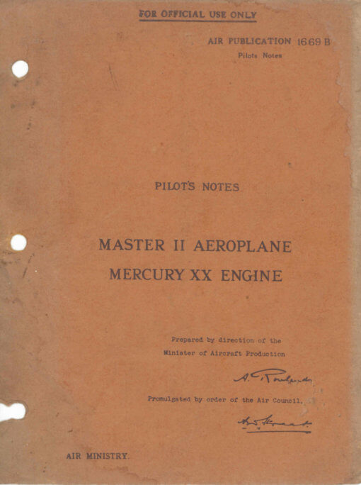 Flight Manual for the Miles Martinet