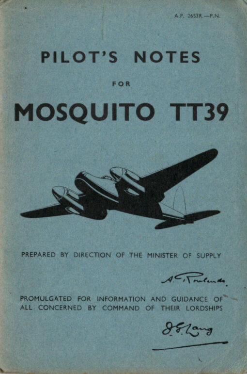 Flight Manual for the De Havilland DH98 Mosquito