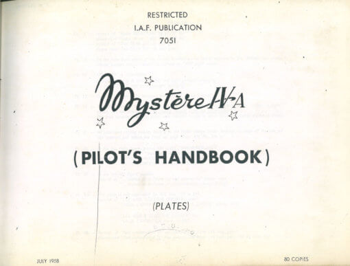 Flight Manual for the Dassault Mystere IV