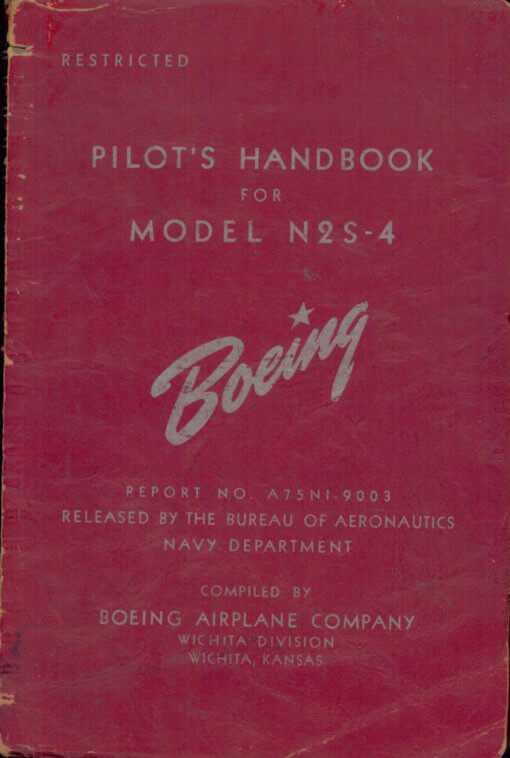 Flight Manual for the Boeing Stearman Model 75 N2S PT-17