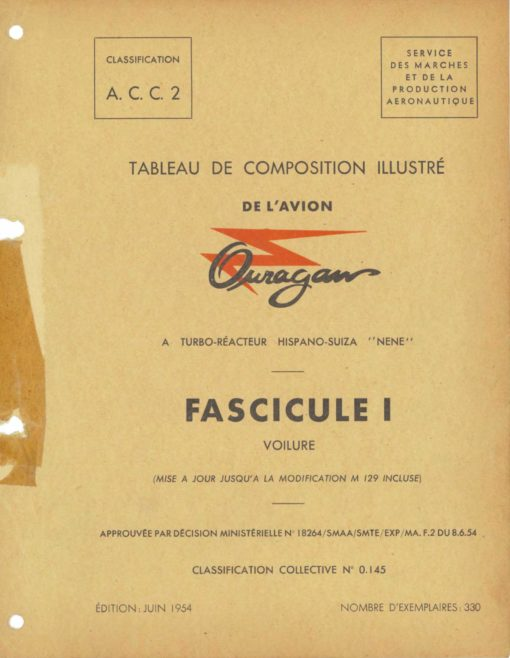 Flight Manual for the Dassault MD450 Ouragan