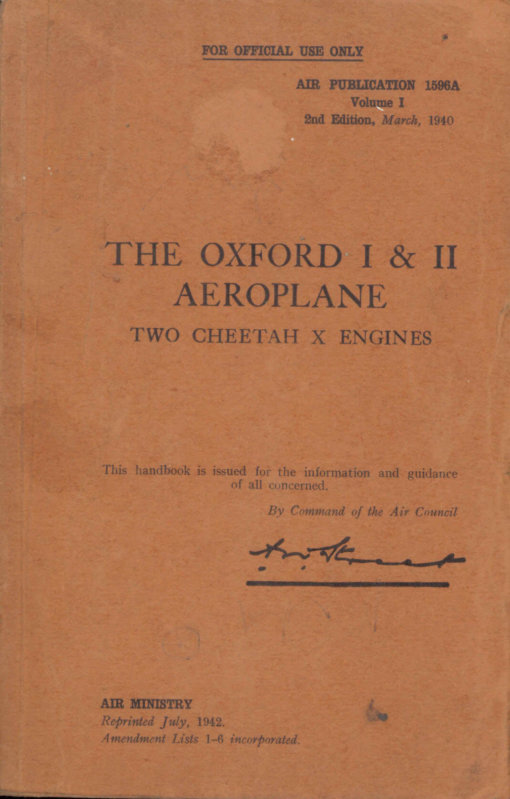 Flight Manual for the Airspeed Oxford