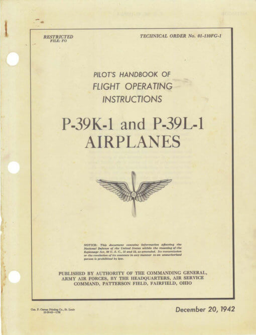 Flight Manual for the Bell P-39 Airacobra