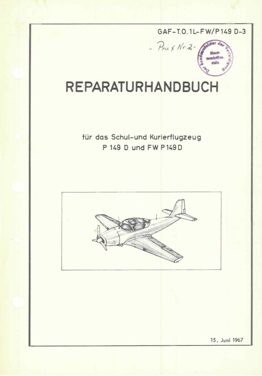 Flight Manual for the Piaggio P149