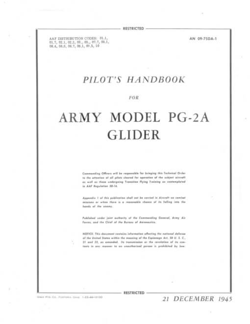 Flight Manual for the Waco PG-2