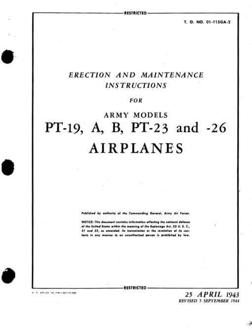 Flight Manual for the Fairchild M62 PT-21 PT-23 PT-26