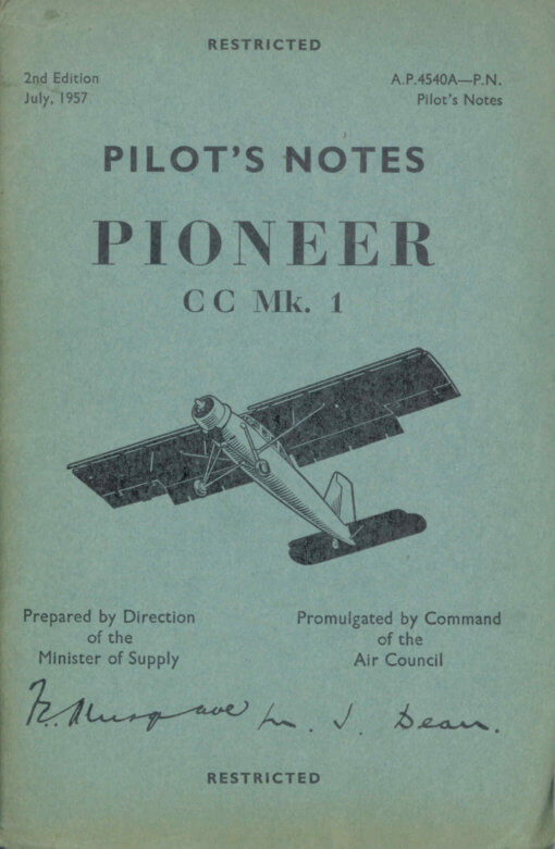 Flight Manual for the Scottish Aviation Pioneer