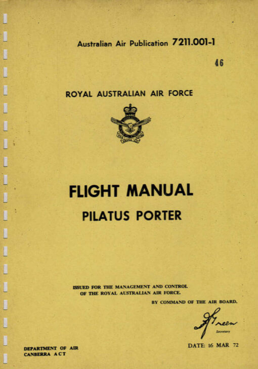 Flight Manual for the Pilatus PC6 Porter and the Fairchild AU-23 Peacemaker