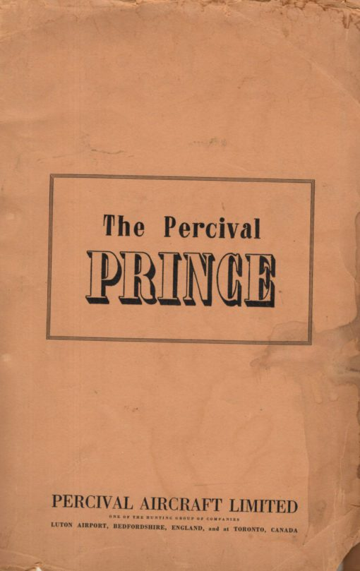 Flight Manual for the Percival Prince