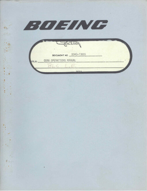 Flight Manual for the Boeing QSRA