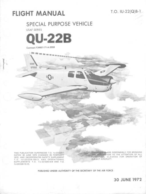 Flight Manual for the Beechcraft QU-22