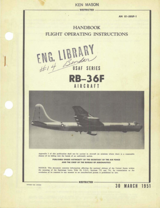 Flight Manual for the Convair B-36 Peacemaker