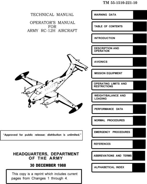 Flight Manual for the Beechcraft C-12 T-44 King Air